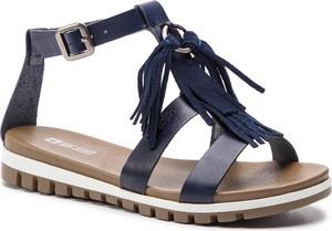 Niebieskie sandały Big Star ze skóry