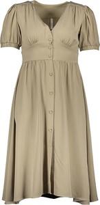 Sukienka Pepe Jeans z krótkim rękawem z dekoltem w kształcie litery v