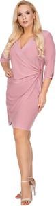 Sukienka Ptakmoda.com z długim rękawem z dekoltem w kształcie litery v mini