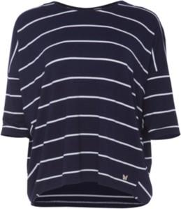 Niebieska bluzka Look made with love z dresówki