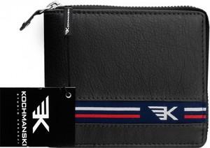 Czarny portfel męski Kochmanski Studio Kreacji® ze skóry na bilon