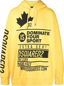 Żółta bluza Dsquared2 z bawełny w młodzieżowym stylu