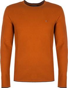 Pomarańczowy sweter Tommy Hilfiger w stylu casual z wełny