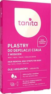 Miraculum Tanita, plastry z woskiem do depilacji ciała, z olejem arganowym, 12 szt. w opakowaniu