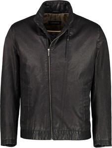 Czarna kurtka Lavard z tkaniny w stylu casual