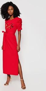 Sukienka Liu-Jo z okrągłym dekoltem maxi