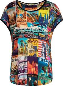 T-shirt Desigual z krótkim rękawem z okrągłym dekoltem w stylu casual