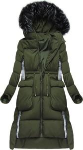 Zielony płaszcz ljr z poliestru