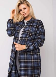 Granatowa koszula Sheandher.pl z bawełny w stylu casual