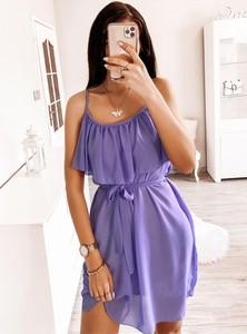 Sukienka Pakuten mini w stylu casual rozkloszowana