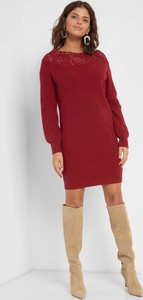 Czerwona sukienka ORSAY mini z długim rękawem