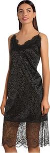 Czarna sukienka MOLLY BRACKEN z dekoltem w kształcie litery v mini