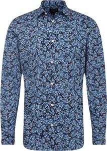 Niebieska koszula Selected Homme z bawełny z długim rękawem w młodzieżowym stylu