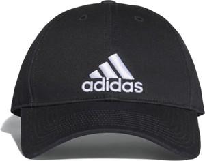 Czarna czapka Adidas z bawełny w sportowym stylu