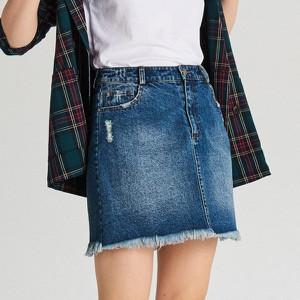 Niebieska spódnica Cropp w street stylu