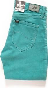 Miętowe jeansy Lee w stylu casual z jeansu