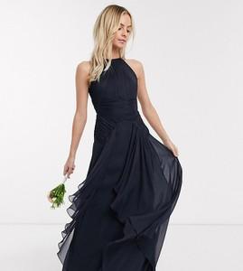 Granatowa sukienka Asos bez rękawów maxi
