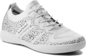 Buty sportowe josef seibel z płaską podeszwą sznurowane w stylu casual