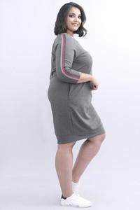 Sukienka KARKO z bawełny z długim rękawem