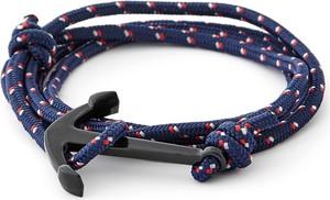 Trendhim Niebiesko-czarna bransoletka z kotwicą