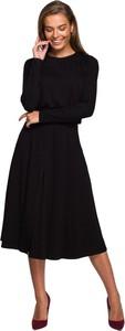 Sukienka Style midi z okrągłym dekoltem w stylu casual