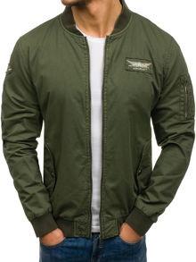 Zielona kurtka denley z bawełny