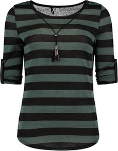 Zielona bluzka Emp w stylu casual z krótkim rękawem