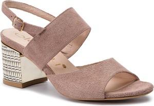 Różowe sandały Oleksy w stylu casual