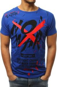 Niebieski t-shirt Dstreet w młodzieżowym stylu