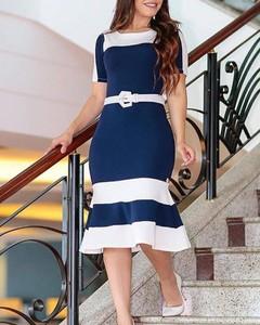 Sukienka Kendallme z okrągłym dekoltem z krótkim rękawem