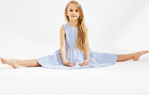 Sukienka dziewczęca Banana Kids w paseczki z tkaniny