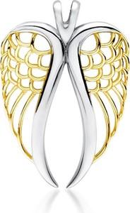 Valerio Delikatny rodowany pozłacany srebrny wisiorek skrzydła anioła angel wings srebro 925 Z1711CGR