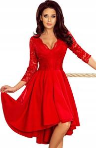 Czerwona sukienka NUMOCO mini dla puszystych