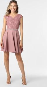 Sukienka Swing z okrągłym dekoltem rozkloszowana mini