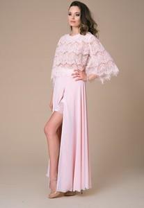 Sukienka NAT Fashion Room w stylu boho z okrągłym dekoltem