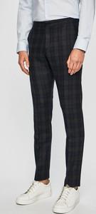 Granatowe spodnie Selected z wełny