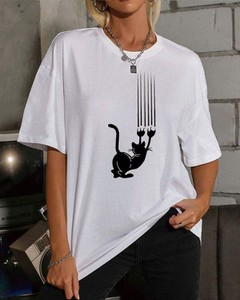 T-shirt Kendallme z okrągłym dekoltem