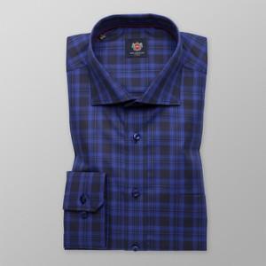 Niebieska koszula Willsoor z włoskim kołnierzykiem w stylu casual