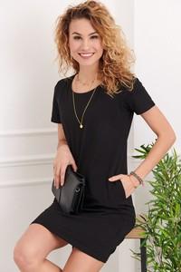 Czarna sukienka Fasardi z bawełny