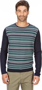 Granatowy sweter Lanieri Fashion w stylu casual