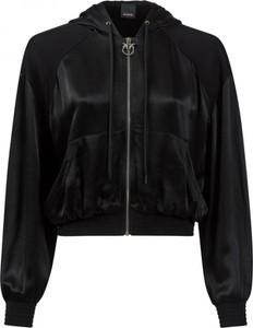 Czarna kurtka Pinko krótka w rockowym stylu