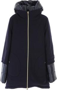 Niebieski płaszcz Herno z bawełny