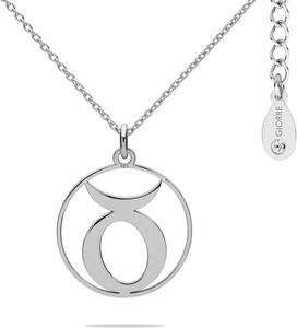 Hebe Naszyjnik znak zodiaku BYK 925 z kryształem Swarovskiego srebro 925 : Kolor pokrycia srebra - Pokrycie Jasnym Rodem