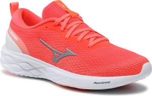 Czerwone buty sportowe Mizuno sznurowane