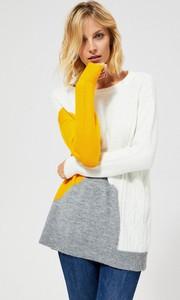 Sweter Moodo w stylu casual w geometryczne wzory