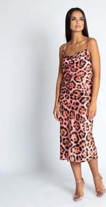 Sukienka Dursi maxi z dekoltem woda na ramiączkach