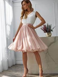 Różowa sukienka L'AF z szyfonu