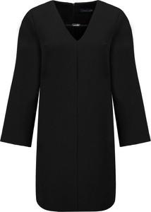 Czarna sukienka Trussardi Jeans w stylu casual mini z długim rękawem