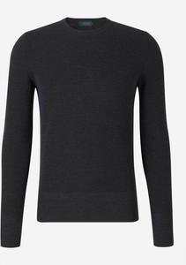 Czarny sweter Zanone w stylu casual z dżerseju