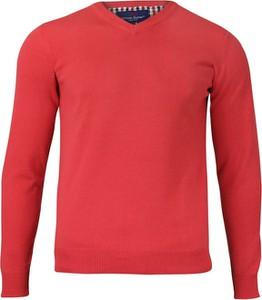 Różowy sweter Adriano Guinari z bawełny